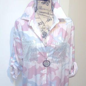 🆕 BRAND NEW!! XXL PINK, GREY & WHITE CAMO DRESS!!